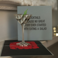 Cocktail Glass Pop Up Card