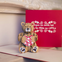 Cwtch Bear Pop Up Card