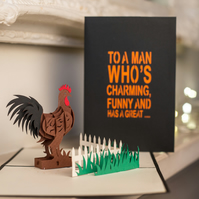 Cock Pop Up Card
