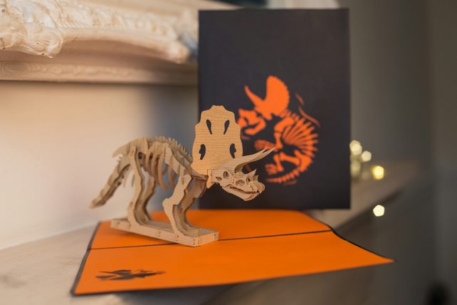 Triceratops Pop Up Card