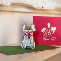 Love Bunny Pop Up Card