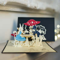Mad Hatter's Tea Party Pop Up Card