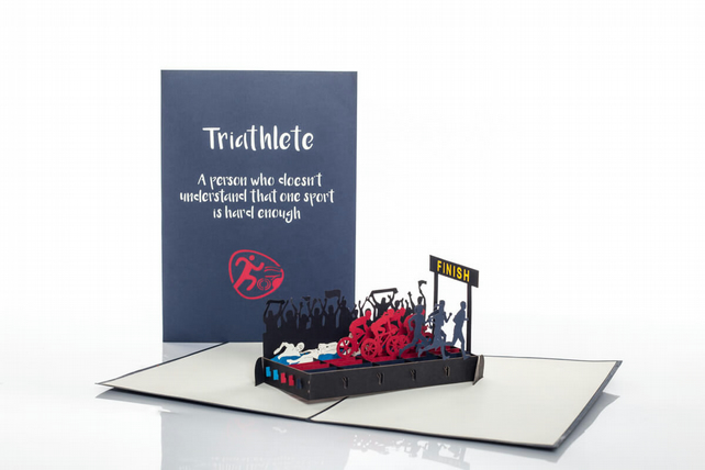 Triathlon Pop Up Card