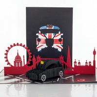 London Taxi Pop Up Card