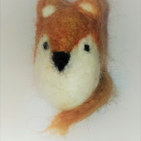 Small felted fox cat toy. Brand new and handmade.