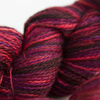 Ruby Slippers - Superwash merino sock-sportweight yarn