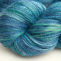 Waves - Silky Baby Alpaca laceweight yarn