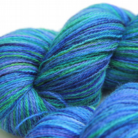 SALE Tropical Waters - Bluefaced Leicester laceweight yarn