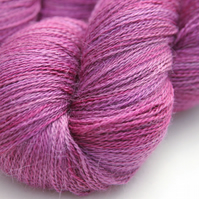 SALE: Bell Heather - Silky baby alpaca laceweight yarn