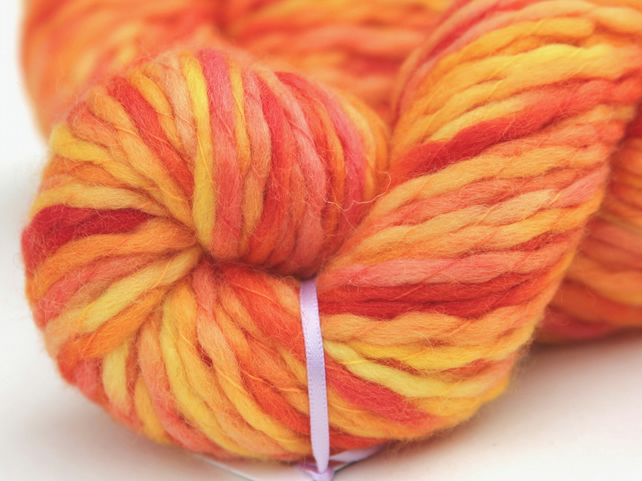 SALE - Dragon's Breath - Chunky merino wave wrap yarn