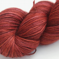 SALE: Rusted - Silky baby alpaca 4-ply yarn