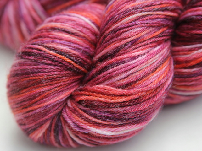 SALE - Sea Anemone - Superwash Bluefaced Leicester-bamboo 4-ply yarn