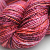 Sea Anemone - Superwash Bluefaced Leicester-bamboo 4-ply yarn