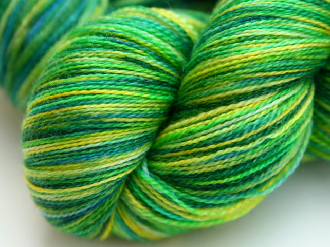 SALE: Bamboo Forest - Superwash merino-bamboo laceweight yarn