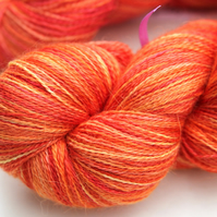 SALE: Carrots - Silky baby alpaca laceweight yarn
