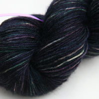 SALE Midnight Moor - Superwash Bluefaced Leicester 4-ply yarn