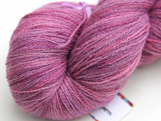 SALE: Bubblegum - Bluefaced Leicester laceweight yarn