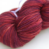 SALE Deep Sunset - Superwash Bluefaced Leicester 4-ply yarn