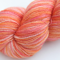 SALE Frosted Peach - Bluefaced Leicester laceweight yarn