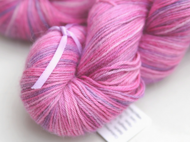 SALE: Blush - Silky baby alpaca 4-ply yarn
