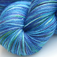 Dreaming Sea - Silky Bluefaced Leicester laceweight yarn
