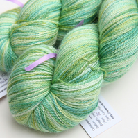 Soft Mint - Silky baby alpaca laceweight yarn