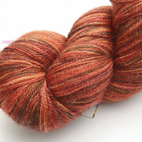 SALE: Crunch! - Superwash merino-bamboo laceweight yarn