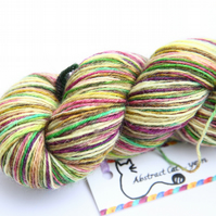 SALE - Fuzzy Thistles - Superwash Bluefaced Leicester 4-ply yarn
