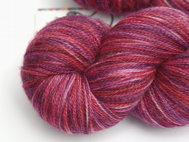 SALE: Happy Days - Superwash merino-bamboo laceweight yarn