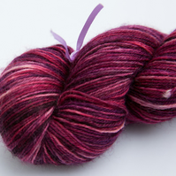 SALE: SECOND - Elderberry Cordial - Superwash Bluefaced Leicester 4-ply yarn