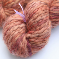 Rose Gold - Chunky merino wave wrap yarn