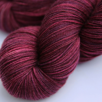 Rose Red - Superwash merino yak nylon 4-ply yarn