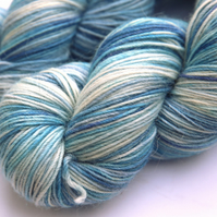 SALE: Polar Bear - Squashy merino alpaca nylon 4-ply yarn