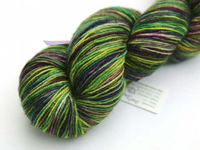 Shady Forest with shafts of light - Superwash Bluefaced Leicester 4-ply yarn
