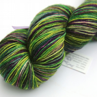 SALE: Shady Forest with shafts of light - Superwash BFL 4-ply yarn
