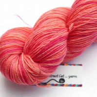 Pink Grapefruit Juice - Superwash Bluefaced Leicester 4-ply yarn