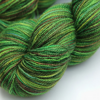 SALE: Jungle - Silky Superwash Bluefaced Leicester laceweight yarn