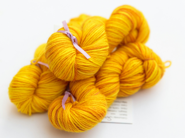 Sun - Superwash Bluefaced Leicester 4 ply 20g mini skeins