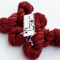 SALE: Gingerbread - Superwash Bluefaced Leicester 4 ply 20g mini skeins