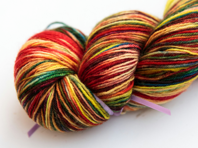 Primary - Superwash Bluefaced Leicester 4 ply yarn