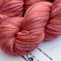 SALE: Rose Pepper - Silky baby alpaca laceweight yarn
