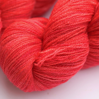 SALE: Watermelon - Bluefaced Leicester laceweight yarn