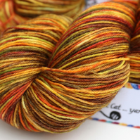 Autumn Fields - Superwash wool-nylon 4 ply yarn