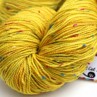 Sunspots - Superwash neppy 4 ply yarn