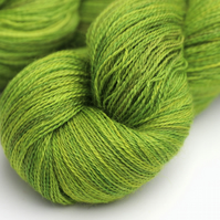 Bright Lime - Silky Baby Alpaca laceweight yarn