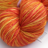 Burning Bright - Superwash Bluefaced Leicester 4 ply yarn