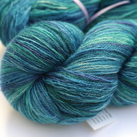 Marine - Superwash Bluefaced Leicester laceweight yarn