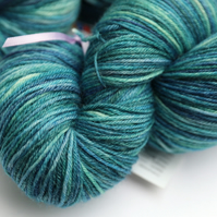 Wave Crests - Superwash Bluefaced Leicester Bamboo 4 ply yarn