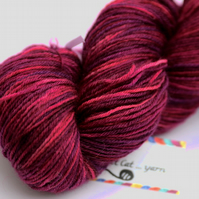 SALE: Sangria - Superwash Bluefaced Leicester 4 ply yarn