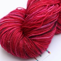 SECOND: It takes all kinds - Bronze(?) Sparkly superwash merino 4 ply yarn